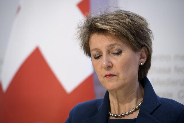 Švajčiarska prezidentka Simonetta Sommarugaová.
