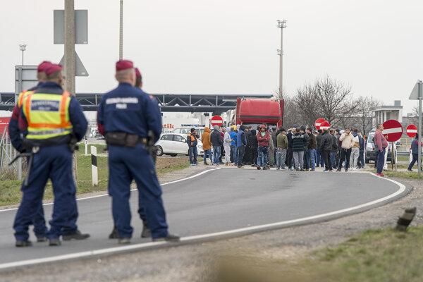 Uzavretá maďarska hranica s Rakúskom