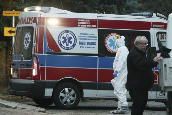 Záchranná zdravotná služba vo Varšave.