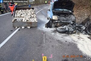 Dopravná nehoda v Handlovej.