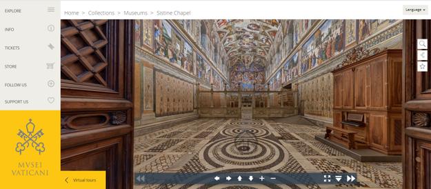 Virtuálna prehliadka po Sixtínskej kaplnke.
