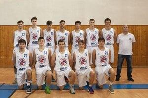 Basketbaloví juniori IMC Považská Bystrica.