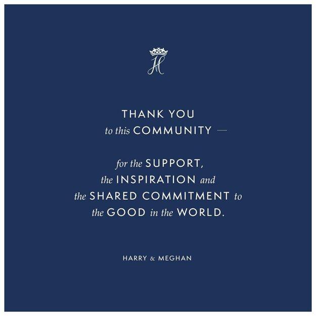 Na ich instagramovom účte sa poďakovali za spoluprácu.