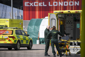 Londýnski zdravotníci.