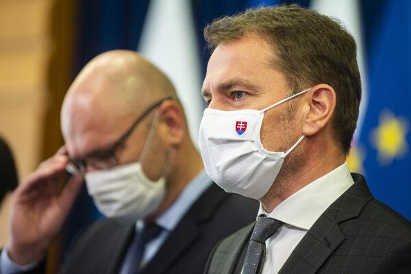 Predseda vlády Igor Matovič a prvý vicepremiér pre ekonomiku a minister hospodárstva Richard Sulík.