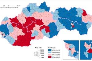 Regióny, v ktorých je vyššia miera rizika vzniku možných komplikovaných priebehov ochorenia COVID-19