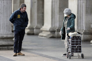 Policajt v Dubline.