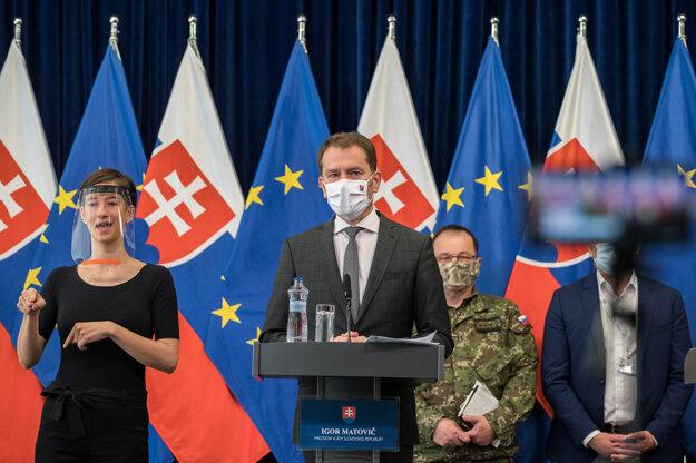 Predseda vlády Igor Matovič na tb k ochoreniu Covid-19 v rómskych osadách.