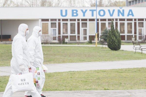 Ubytovňa v Gabčíkove, ktorá slúži ako karanténa pre ľudí ktorí prišli zo zahraničia kvôli novému koronavírusu.