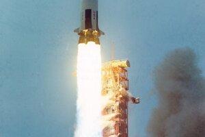 Štart rakety Saturn V 11. apríla 1970.