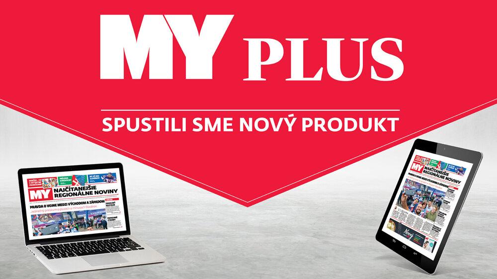 MY PLUS - úplne nový produkt, ktorý pre vás pripravili najčítanejšie regionálne noviny MY