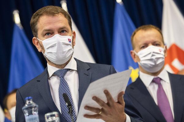 Premiér Igor Matovič drží programové vyhlásenie vlády.
