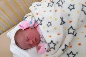 Tamara Čuhaničová (3080 g, 48 cm) sa narodila 6. apríla Monike a Marcelovi z Nového Mesta nad Váhom.