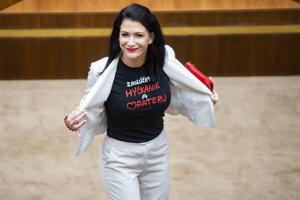 Poslankyňa za SaS Jana Cigániková nechce programovému vyhláseniu dožičiť hýčkanie a opateru.