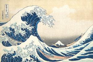 Túlavú vlnu zrejme na drevoreze Veľká vlna pri pobreží Kanagawa zachytil aj japonský umelec Kacušika Hokusai.