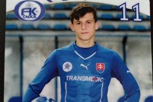 Dávid Ondreáš v drese FK Čadca.