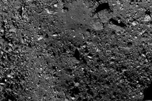 Časť severnej pologule asteroidu Bennu.