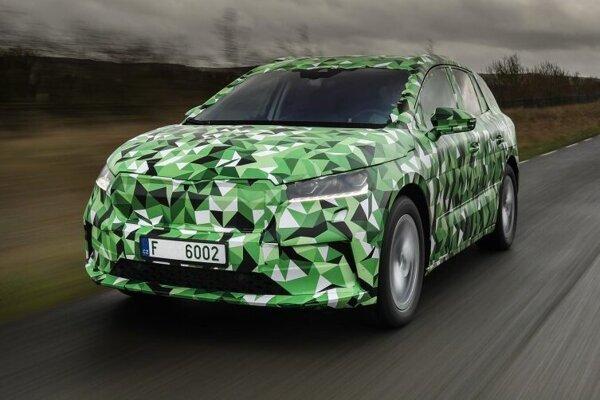 Elektrická Škoda Enyaq, ešte s maskovaním.