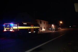 Požiar budovy v Handlovej.