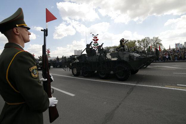 Vojenská prehliadka v Bielorusku.