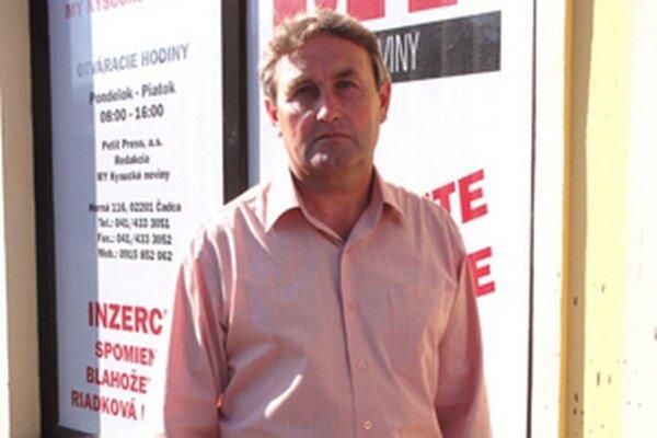 Tréner Spartaka Vysoká nad Kysucou Peter Padych.