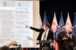Igor Matovič predstavil štvrtú fázu otvárania.