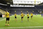 Futbalisti Borussie Dortmund na ilustračnej fotografii.