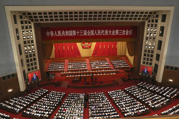 Celočínske zhromaždenie ľudových zástupcov v Pekingu 22. mája 2020.
