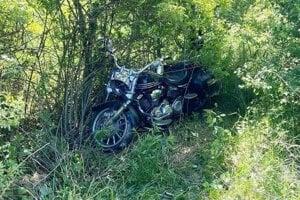 Motorka po nehode.