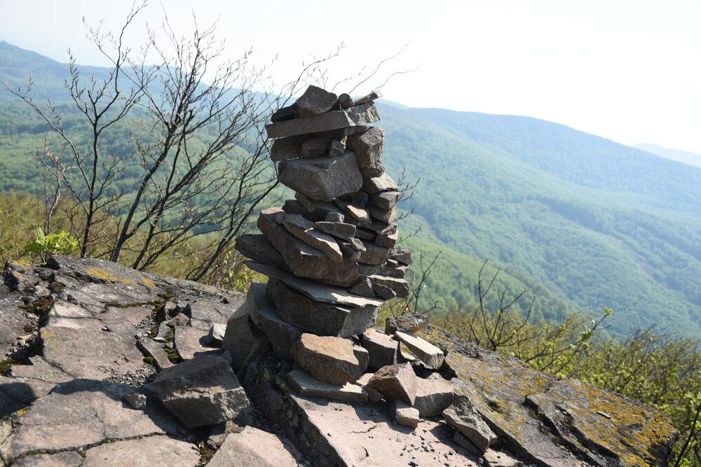 Na vrchole Sninského kameňa.