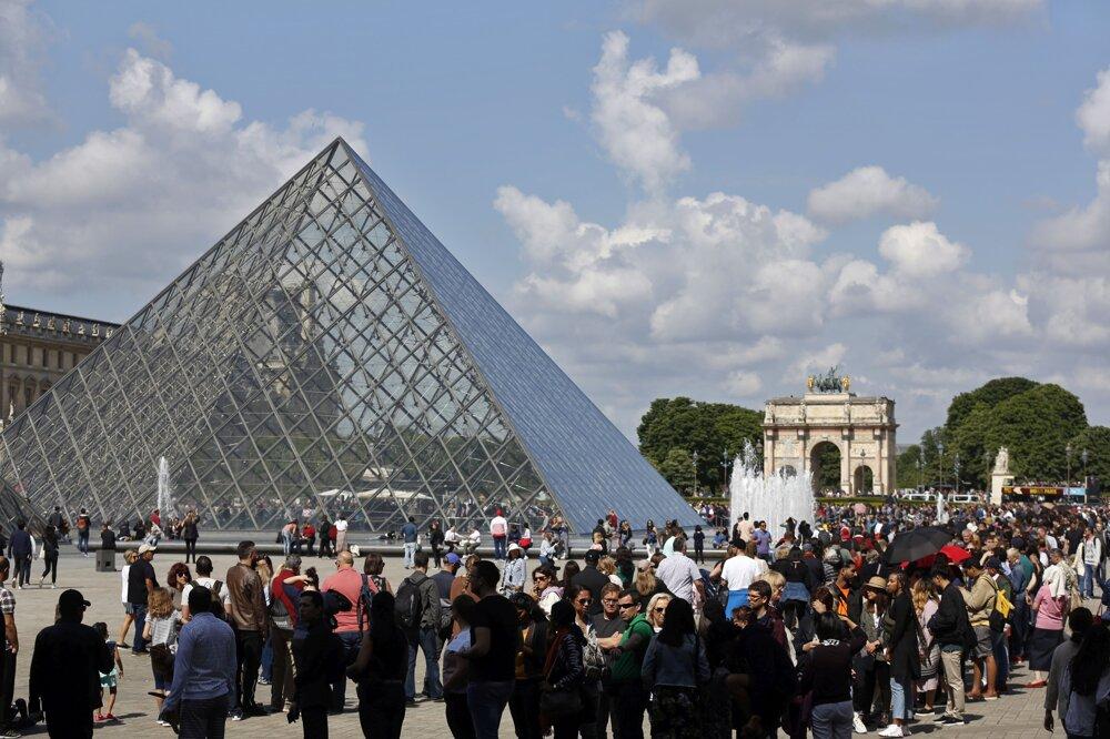 Parížske múzeum Louvre ešte pred vypuknutím pandémie.