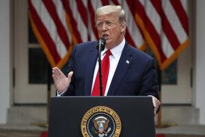 Americký prezident Donald Trump hovorí v Bielom dome vo Washingtone 29. mája 2020.