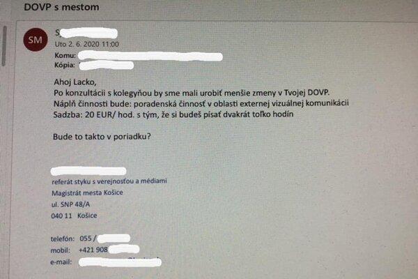 Kontroverzný e-mail, po ktorom odosielateľka dostala od primátora Košíc výpoveď.