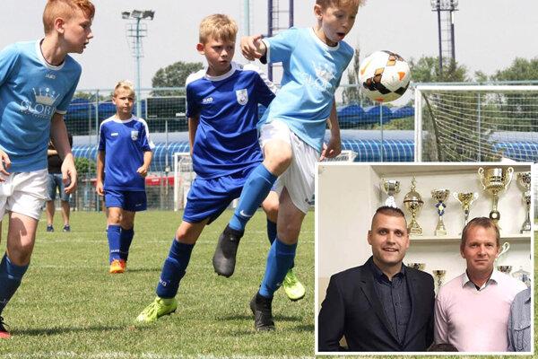 Roman Hromádka a Peter Bosák z FC Cabaj-Čápor chcú pripraviť finálové turnaje pre kategórie U9, U11 a U13.