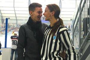 S manželom na otvorení žiarskeho štadióna.