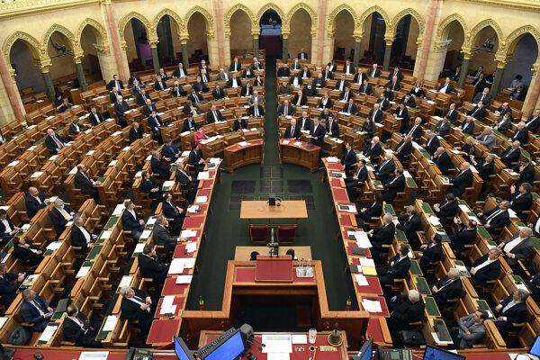 Poslanci maďarského parlamentu