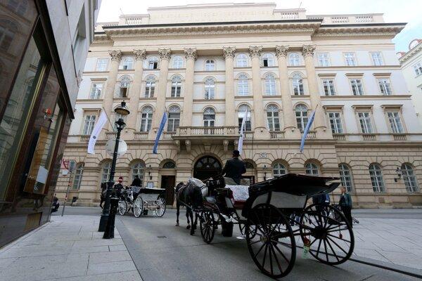 Budova, v ktorej USA a Rusko rokujú o kontrole zbraní.  Viedeň, 22. jún 2020.