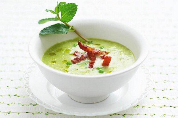 Hráškovo-špenátová polievka