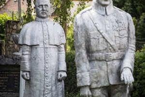 Sochy Tisa a M.R.Štefánika v Čakajovciach