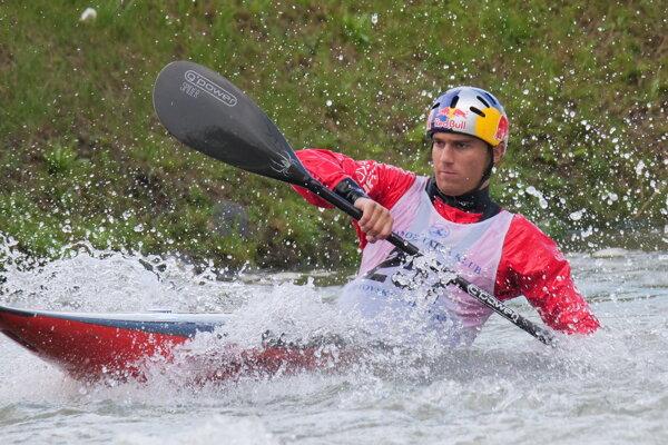 Kajakár, už istý olympionik Jakub Grigar na tréningových pretekoch nechýbal.