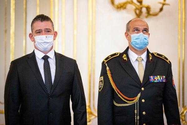 Minister Mikulec a Milan Lučanský.