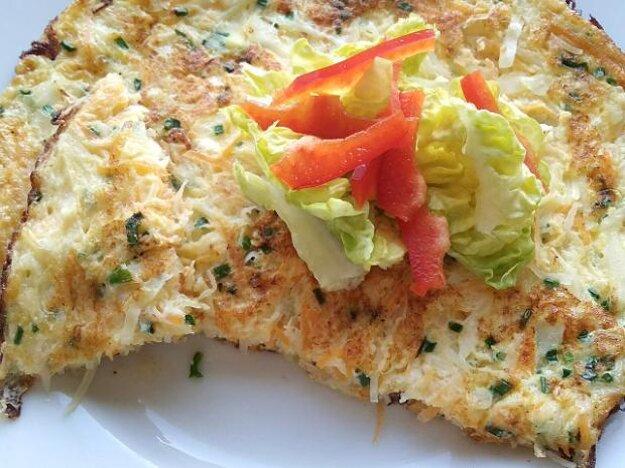 Omeleta s tvarohom a zeleninou