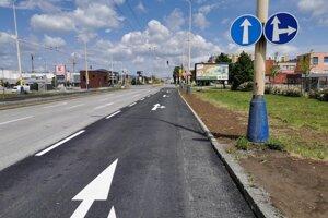 Obnovená križovatka ulíc Armádneho generála Svobodu a Zemplínska.
