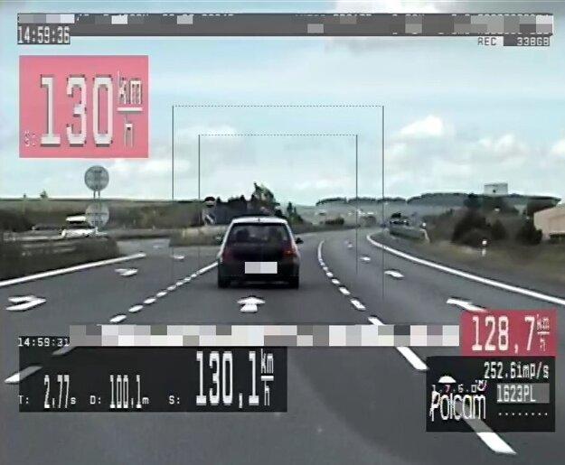 Polícia zamerala vodičov na úseku medzi Popradom a Veľkou Lomicou.