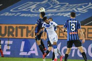 Zápas Atalanta Bergamo - Brescia Calcio.