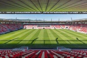 Futbalový štadión v Miškovci. Košičania si na ňom v sobotu zmerajú sily s domácim prvoligovým DVTK.