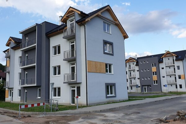 Nové bytovky s nájomnými bytmi.