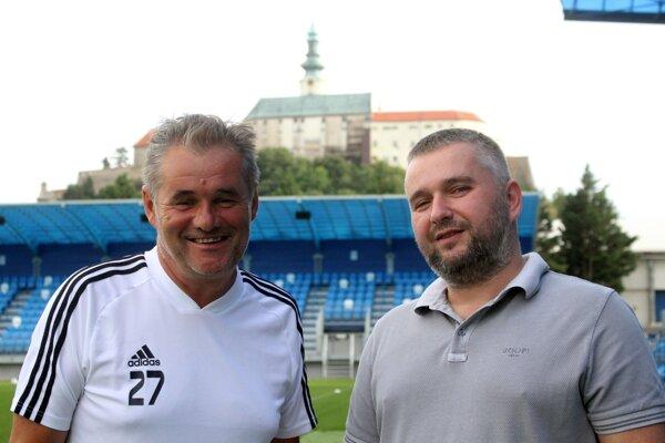 Momentálne najkľúčovejší muži FC Nitra - Ivan Galád a Ladislav Palaky.