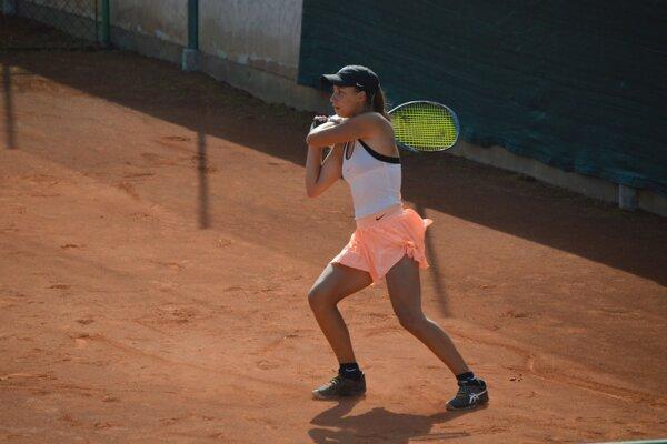 Salma Drugdová počas jedného z turnajov.