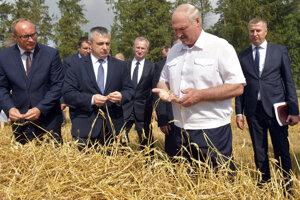 Prezident Lukašenko kontroluje rast obilia.